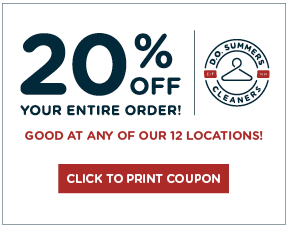 D.O. Summers Cleaners – Dry Cleaning 20% Off Coupon
